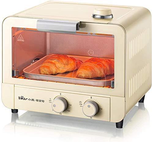 Yaseking Horno eléctrico de pan de pan Mini horneado pequeño horno 15 litros Capacidad Vapor tierno asado con parrilla Pan Grill