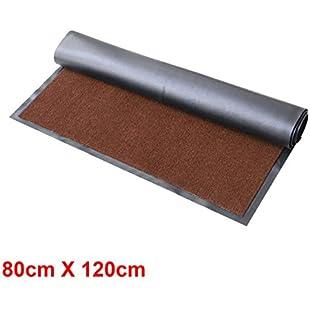 MultiWare Heavy Large Rugs Duty Barrier Slip Resistant Rubber Backed Door Floor Mat Brown 80X120cm