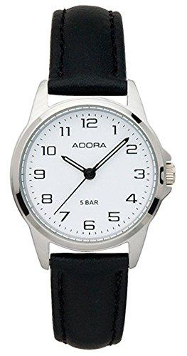 Damenuhr Armbanduhr Analoguhr Edelstahluhr mit Lederband Adora 29400, Variante:01