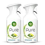 Air Wick PURE Erfrischend – Zitrisch-frisches Duftspray geruchsneutralisierend & ohne feuchten Niederschlag – Duft: Zitronenblüte – 2 x 250 ml
