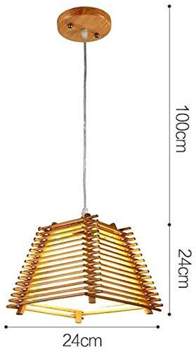 Plafondlamp massief hout kroonluchter Japanse Stijl Koreaanse Stijl Eenvoudige Woonkamer Restaurant Led E27 Gemakkelijk te reinigen