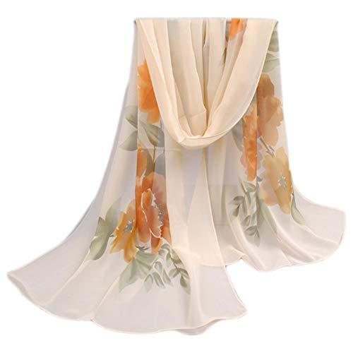Leichter Blumendruck Frühling Sommer Schal Sonnencreme Schals für Frauen