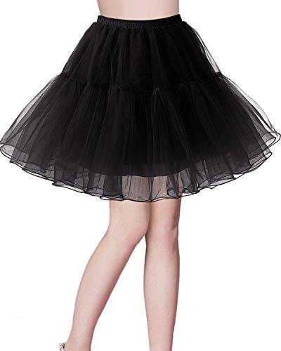Bridesmay Enaguas Años 50 Vintage Black L