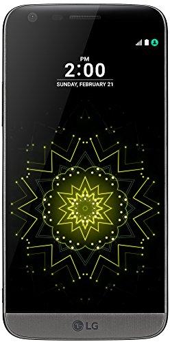 """LG G5 - Smartphone de 5.3"""" (Qualcomm Snapdragon 820 2.1 GHz, 4 GB RAM, 32 GB memoria interna, doble cámara de 16 MP y 8 MP, gran angular, grabación de vídeo 4K, Android 6.0 Marshmallow), color titanio"""