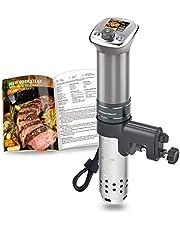 Sous-Vide Garer Ultrastille dompelcirculator: gekleurde LCD-recepten | G320 Pro Silver Machine, borstelloze gelijkstroommotor | 1100 watt | wordt geleverd met receptenboek | IPX7 KitchenBoss