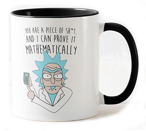 Camisetas La Colmena 1164-Taza Rick And Morty Mathematically...