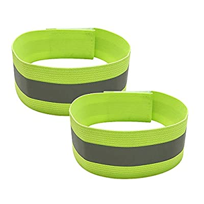 Reflective Bands for Arm, Wrist, Ankle, Leg. Very Large Reflective Surface Area. High Visibility Reflective Gear for Night Walking, Cycling and Running. Safety Reflector Tape Straps.