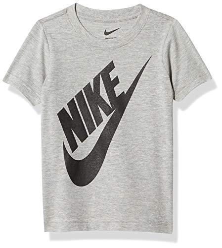 NIKE Children's Apparel Boys' Toddler Sportswear Graphic T-Shirt, Dark Grey Heather, 3T