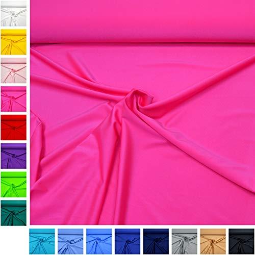 MAGAM-Stoffe Alison Jersey Lycra Stretch Stoff Oeko-Tex Meterware 50cm (04. Neon-Pink)