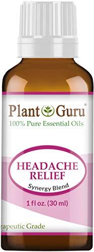 Headache Relief Essential Oil Blend (Migraine) 1 oz / 30 ml 100% Pure, Undiluted, Therapeutic Grade. (Blend of: Lavender Dalmatia, Peppermint, Wintergreen, Frankincense, Marjoram, Rosemary)
