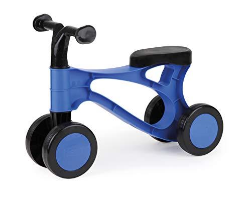 Lena 7168 Lauflernroller My First Scooter, Laufrad in blau und schwarz, Sitzroller mit Stahlachsen, Lauflernrad zum Balance und Laufen trainieren, Lauflernhilfe Roller für Kleinkinder ab 18 Monate