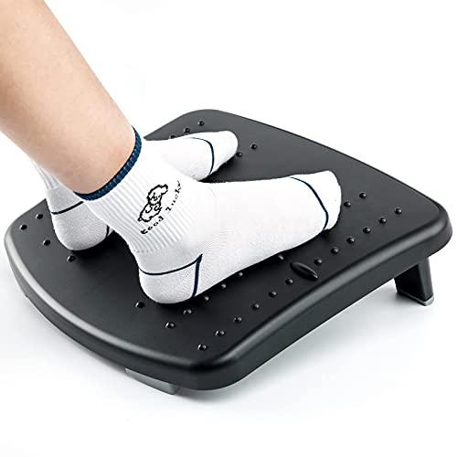 HUANUO Ergonomische Fußstütze für den Schreibtisch, 2 Höhenverstellbare Fußstützen mit Strukturierter Oberfläche, Geeignet für Reisen im Home Office (Plastik)