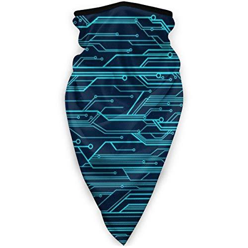 C/N Azul Circuito Líneas Al Aire Libre Cara Máscara De Boca A Prueba De Viento Deportes Máscara De Esquí Escudo Bufanda Bandana Hombres Mujer Bufanda