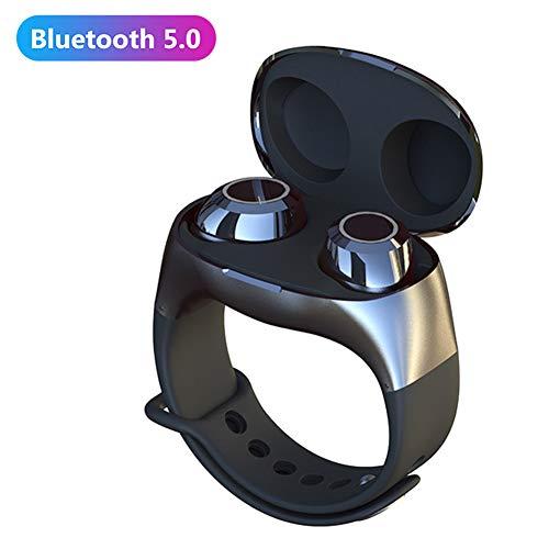 FafSgwq HM50 Portable Sports TWS Wireless Bluetooth 5.0 Auricolare in-Ear Cuffie Stereo Auricolari Bluetooth Wireless Reali con Microfono Nero