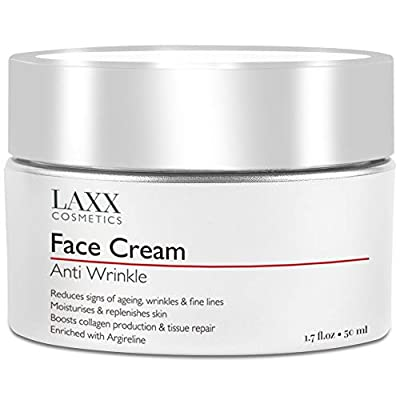 Powerful Age-Defying Face Cream with Matrixyl 3000 - Reduces Signs Of Ageing, Fine Lines & Wrinkles, Moisturises & Replenishes Skin - Anti Wrinkle Cream, Vitamin C - Hyaluronic Acid by Laxx Cosmetics