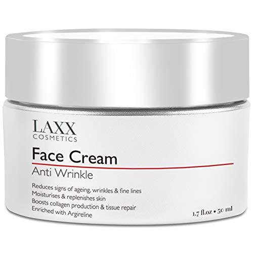 Potente crema viso anti-età con Matrixyl 3000 – riduce i segni di invecchiamento, linee sottili e rughe, idrata e ricostituisce la pelle – crema anti rughe, vitamina C – acido ialuronico