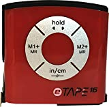 eTape16 ET16.75-DB-RP Digital Tape Measure, 16', Red, Inch and Metric
