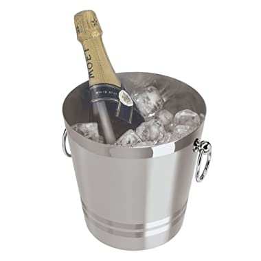 Oggi 7041.0 Stainless Steel Champagne Bucket, 4-1/4-Quart