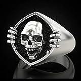 WDBAYXH Gothic Style Creative Skull Finger Ring Punk Women/Men Rings Vintage Party Personality Gift Fashion Skeleton Jewelry Unisex (Size : 9)