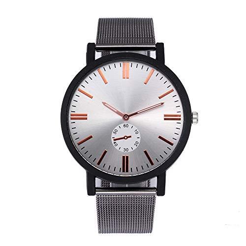 Hansee Herren-Armbanduhr, modisch, Legierung, klassisch, lässig, minimalistisch Gr. Einheitsgröße, silber