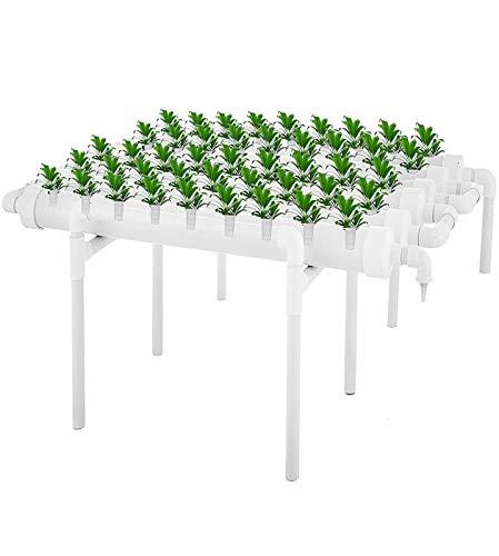 Kit di coltivazione per sito idroponico 1 strati 54 siti di impianto 6 tubi Tubazione verticale Kit di coltivazione idroponica Sistemi di coltura idrica Balcone Giardino Idroponica Esperimento