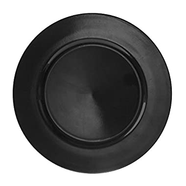 10 Strawberry Street 13  Lacquer Round Charger Plate, Set of 6, Black