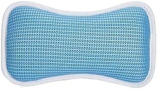 バスピロー お風呂 枕 まくら 3D通気メッシュ 弾性がよい 柔らかい 吸盤付き 滑り止め付 吸盤付き 防水 お風呂グッズ ギフト 浴槽枕 ふた 枕 安眠 人気 肩こり 熟睡 浴用品 (ブルー)