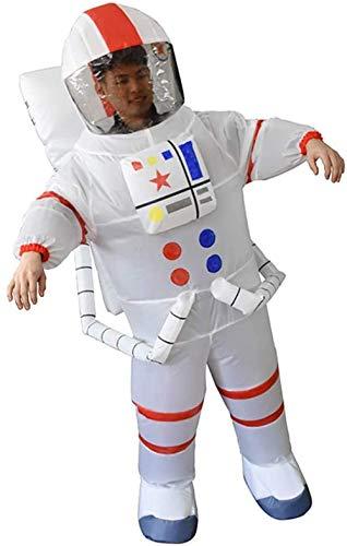 TBBE Disfraz inflable de hombre espaciador inflable, disfraz de cosplay inflable, disfraz divertido para padres-hijo, fiesta de Halloween, escenario, adulto, color blanco