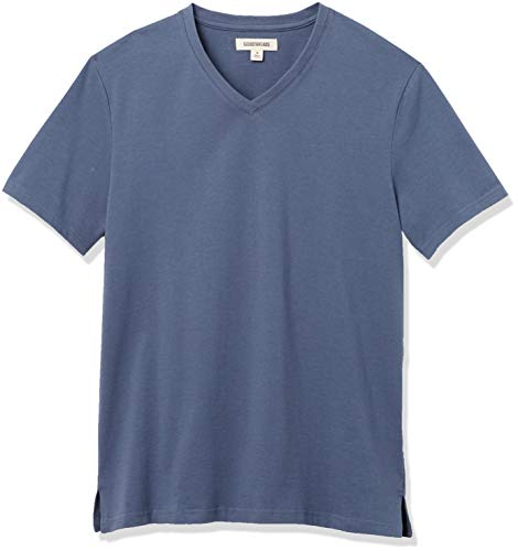 Amazon Brand - Goodthreads Men's Heavyweight Oversized Short-Sleeve V-Neck T-Shirt, Denim Blue, XX-Large