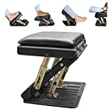 Adjustable Footrest, Upgrade Ergonomic Footrest Max-Load 180LBS with 4 Functional Modes & Massage Footrest Under Desk for Home, Office, Car, Train