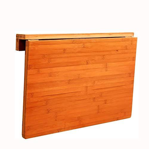 JIADUOBAO Mesa plegable de pared, mesa de comedor, mesa de bambú para ordenador, mesa de aprendizaje plegable, tamaño opcional (tamaño: 70 x 45 cm)