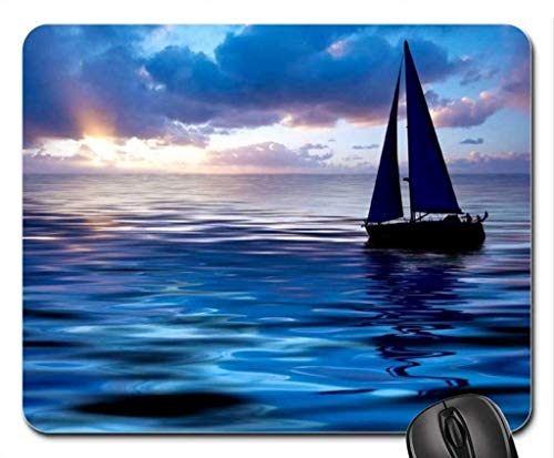 Yanteng Tappetino per mouse da gioco Nature Landscape, Tappetino mouse per barca a vela, Tappetino per mouse (Oceans Mouse Pad)