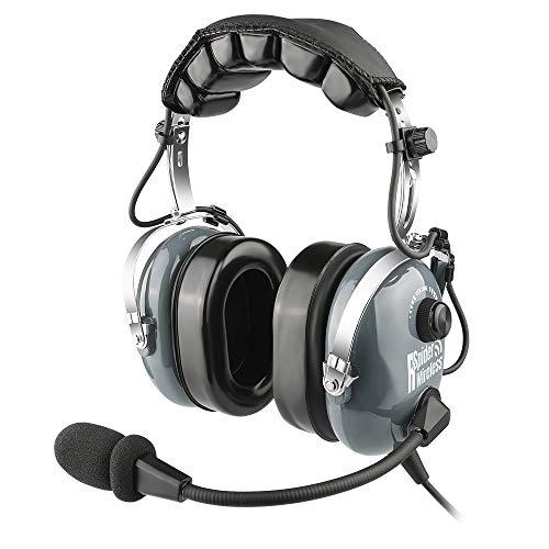 Aviation Pilot Headset, Comfortable Gel Ear Seals Headset
