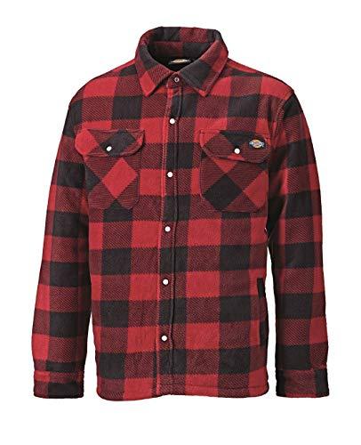 Dickies Herren Holzfällerhemd mit Steppfütterung (Rot,M)