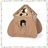 Modelo De La Nave De Playhouse Estereoscópica For Colorear Cartón Casitas Kit Juguetes Juegos For Niños Niñas Niños Kinder Juegos Familiares A Las Escondidas (Tamaño: 60x60x97cm) (Size : 60x60x97cm)