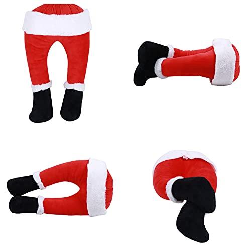 Huakaimaoyi Decoracin de Navidad con patas de elfo, adornos de rbol de Navidad, decoracin de puerta de felpa, decoracin de Navidad para decoracin del hogar, adornos colgantes de fiesta