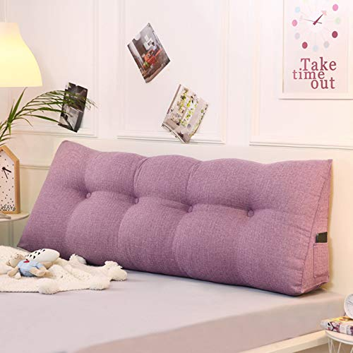 ABTSICA Large Filled Triangular Soft Wedge Cushion Bed Backrest Positioning Support Bolster Reading Pillows Home Office Lumbar Pad with Removable Cover Soft Headboard,8,90 * 20 * 50cm