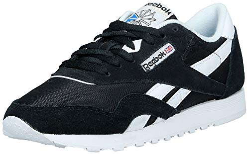 Reebok Classic Nylon, Damen Sneakers, Schwarz (Black/White), 40 EU (6.5 Damen UK)