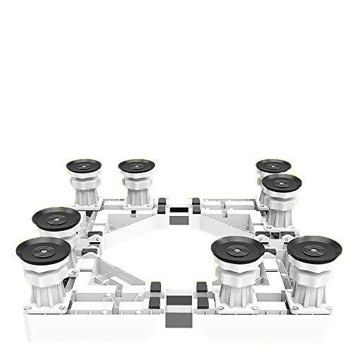 Mfnyp Verstelbare basis Wasmachine Stand met 8 Sterke voeten Laadlager 250Kg, Multi-Functioneel voor Washer Stand Droger En Koelkast