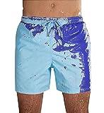 Costume da Bagno Uomo Cambia Colore Pantaloncini Mare Uomo Costumi da Bagno...