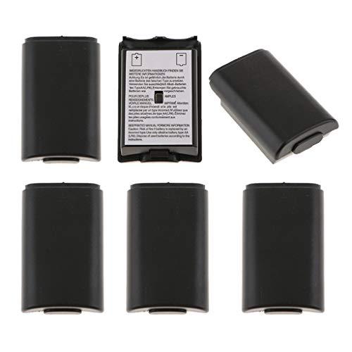KESOTO 6X Batterie Abdeckung Akkufach Schutz Case für Xbox 360 Slim Wireless Controller