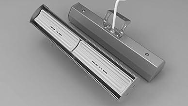 Cerámica calefactor infrarrojos Modelo Pub Sun Plata 1300W de Elbo-therm Nero Therm