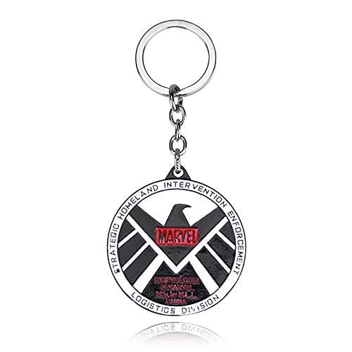 Puede ser personalizado S.H.I.E.L.D., multi-estilo, aleación multicolor redondo forma de tarjeta llavero llavero colgante accesorio pequeño regalo decoración
