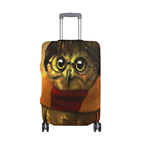 IUBBKI Travel Luggage Cover Owl Magician Suitcase Protector FitSch Washable Baggage Covers