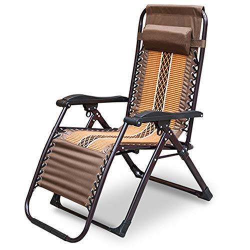 ZHJC Tumbona Luz Y Diseño Plegable al Aire Libre de Espuma Tipo Gravedad Cero reclinado Ocio Playa Silla tumbonas sillas de jardín (Color, Size : One Size)
