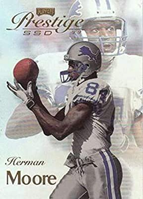 1999 Prestige SSD Football #B44 Herman Moore Detroit Lions Official NFL Trading Card From the Playoff Corp