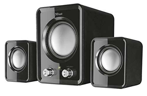 Trust Ziva Compact 2.1 PC Speakers with Subwoofer for Computer and Laptop, 12 W, USB Powered