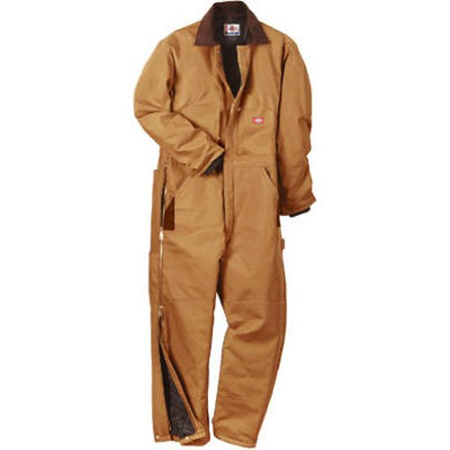 Dickies Men's Big-Tall Premium Insulated Duck Coverall, Brown Duck, 2X/Tall
