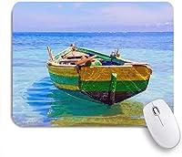ECOMAOMI 可愛いマウスパッド ハイチの漁船の絵 滑り止めゴムバッキングマウスパッドノートブックコンピュータマウスマット