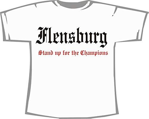 Flensburg - Stand up for The Champions; Städte Unisex T-Shirt weiß, Gr. XXL